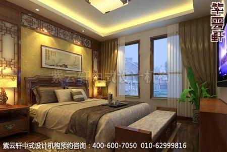 家装中式复式设计-简约中式装修效果图之卧室中式装修效果图