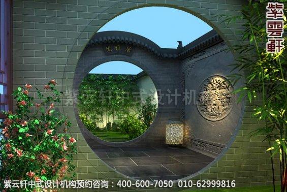 传统文化神韵的新中式风格设计-别墅中式装修之后院景区装修