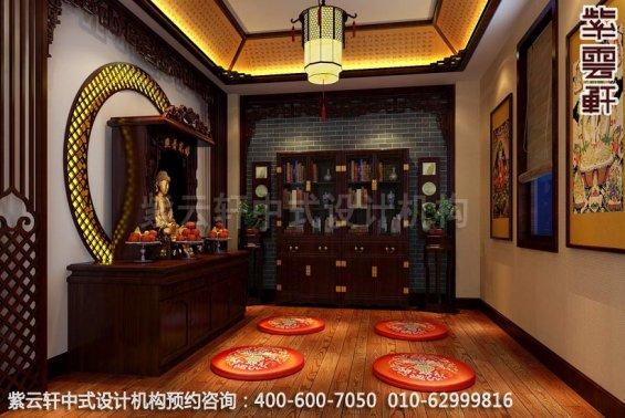 木质清香萦绕,休闲会所中式装修之佛堂中式装修效果图