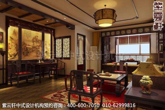 简约平层中式古典家居设计装修效果图之客厅装修效果图