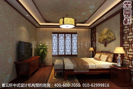 简约平层中式古典家居设计装修效果图之卧室装修效果图