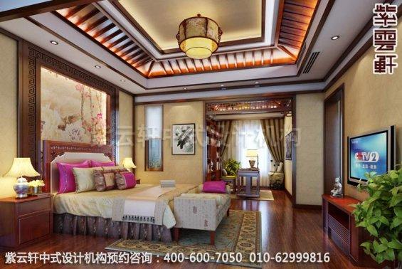 现代住宅家居装修设计-家装中式装修-卧室中式装修效果图