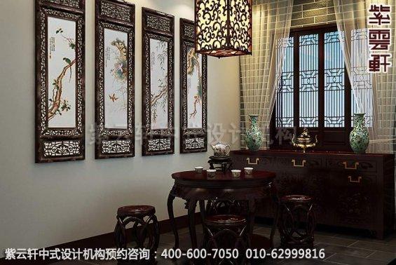 现代住宅家居装修设计-家装中式装修-茶室中式装修效果图