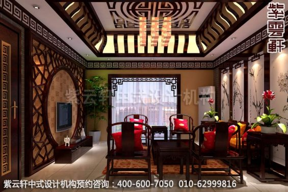 中式家装-美不胜收的仿古中式装修效果图之客厅装修效果图
