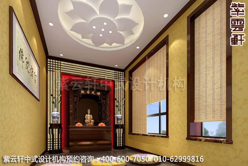 中式家装-美不胜收的仿古中式装修效果图之佛堂装修