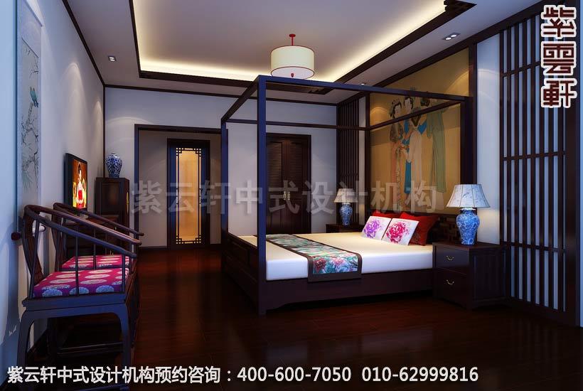 中式家装-美不胜收的仿古中式装修效果图之卧室装修效果图