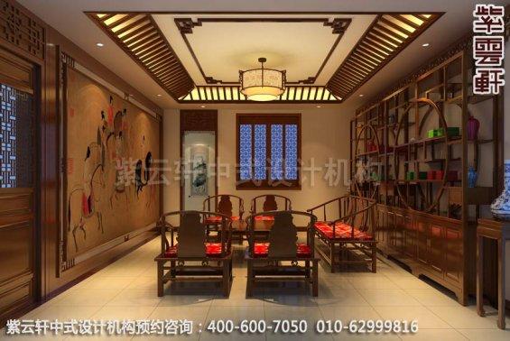中式家装-美不胜收的仿古中式装修效果图之茶室装修效果图