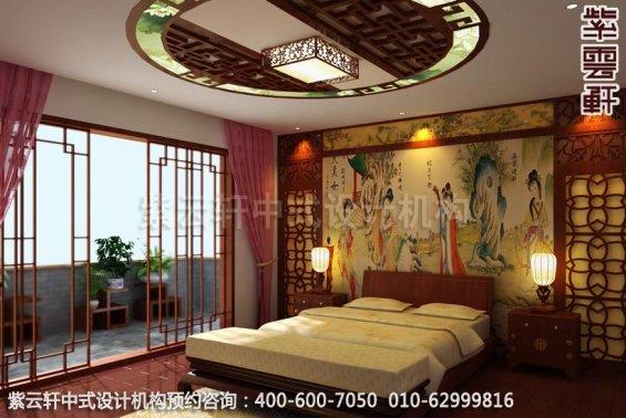 别墅装修装修效果图-现代中式设计-女儿房装修效果图