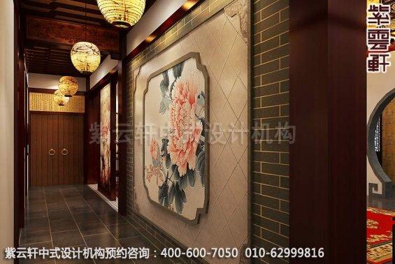 别墅装修装修效果图-现代中式设计-走廊装修效果图