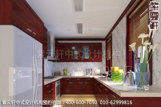 别墅设计-惬意半闲豪宅中式装修-厨房中式装修效果图