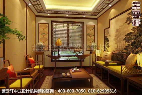 现代中式风格别墅设计-惬意半闲豪宅中式装修-茶室中式装修效果