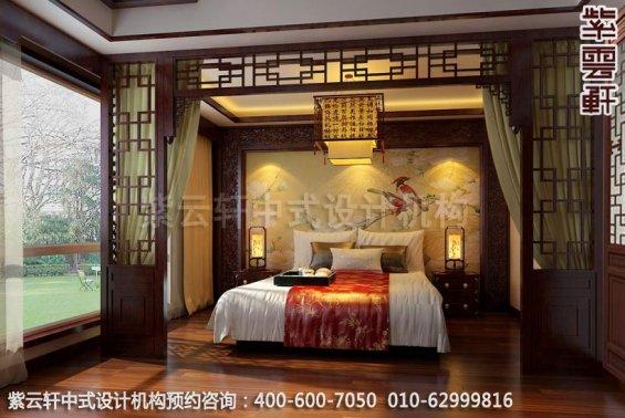 现代中式风格别墅设计-惬意半闲豪宅中式装修-卧室中式装修效果图