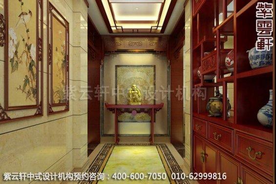 现代中式风格别墅设计-惬意半闲豪宅中式装修-玄关中式装修效果图