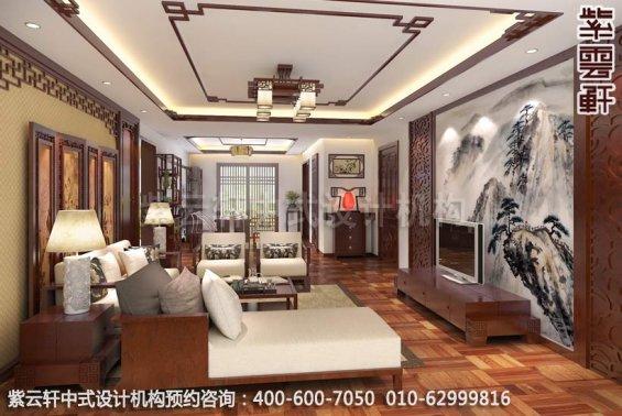 古典情怀-现代家装中式装修效果图-客厅中式装修效果图