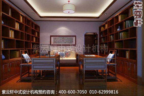 古典情怀-现代家装中式装修效果图-书房中式装修效果图