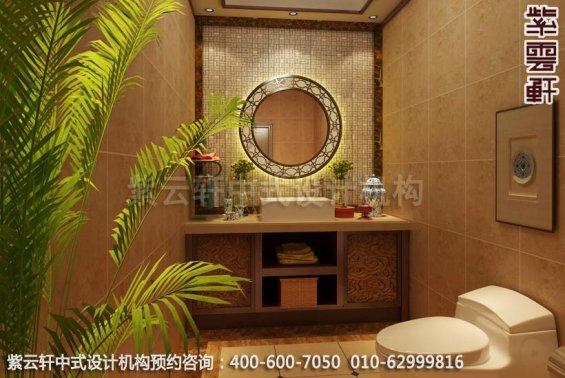古典情怀-现代家装中式装修效果图-卫生间中式装修效果图