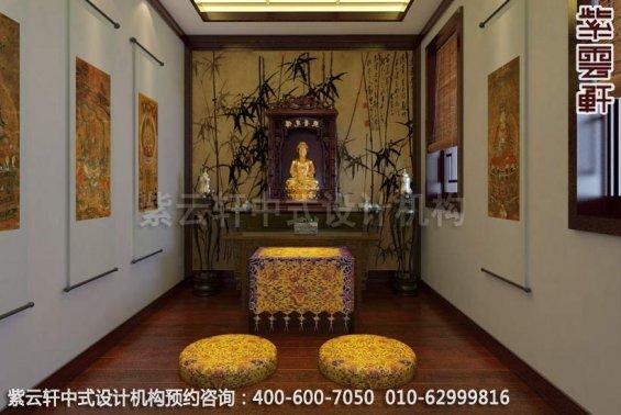 自然印象古典中式风格家装效果图-佛堂中式装修效果图