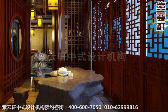 自然印象古典中式风格家装效果图-茶室中式装修效果图