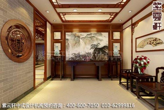中式家装-妙笔出丹青含古典韵味的中式家居设计-玄关中式装修效果