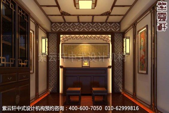 精品中式顶楼设计装修,住宅中式装修效果图-佛堂中式装修效果图