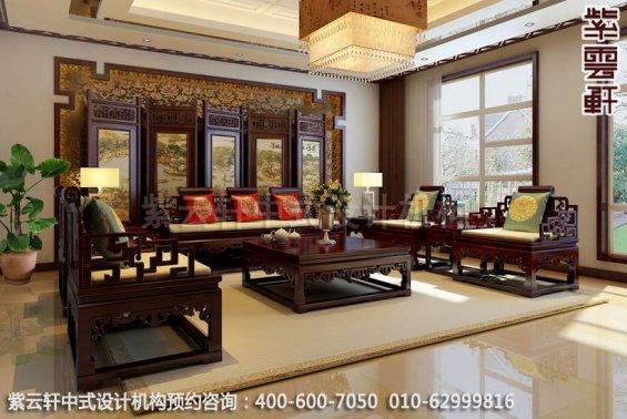 温婉豪华-精品住宅中式风格装修-客厅中式装修效果图