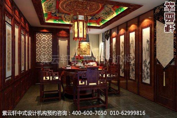 山水之间梦回唐朝-古典中式装修-茶室中式装修效果图赏析