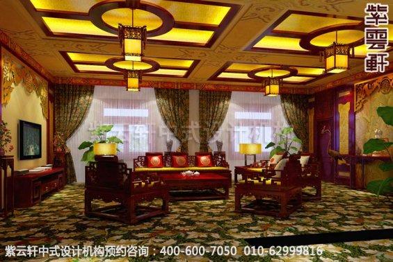 山水之间梦回唐朝-古典中式装修-客厅中式装修效果图