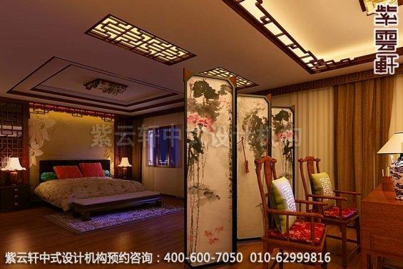 温婉豪华-精品住宅中式风格装修-卧室中式装修效果图