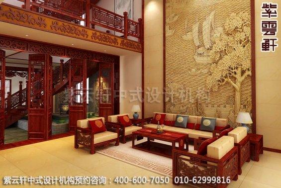 朴实淳厚的中式装修古典家装住宅效果图之客厅中式装修效果图