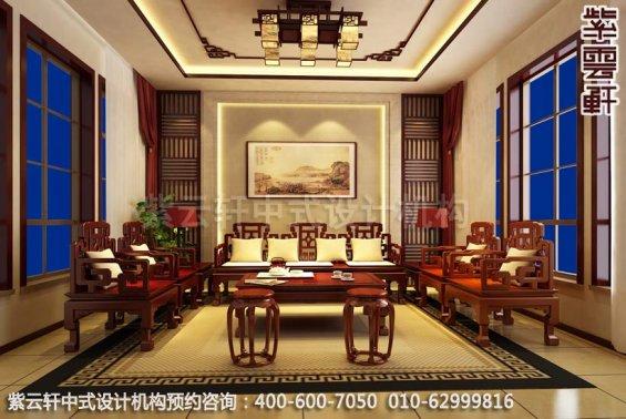中国传统文化,中式装修展古典豪气,客厅中式装修效果图
