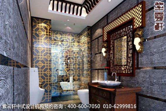 中国传统文化,中式装修展古典豪气,卫生间中式装修效果图