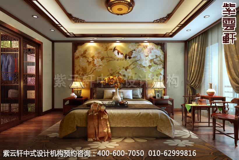 说明:紫云轩中式设计机构提供苏州昆山锦溪朱先生老人房中式装修效果图片