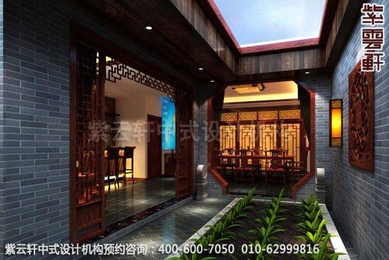 幽静闲雅-精品住宅古典中式装修-庭院中式装修效果图赏析
