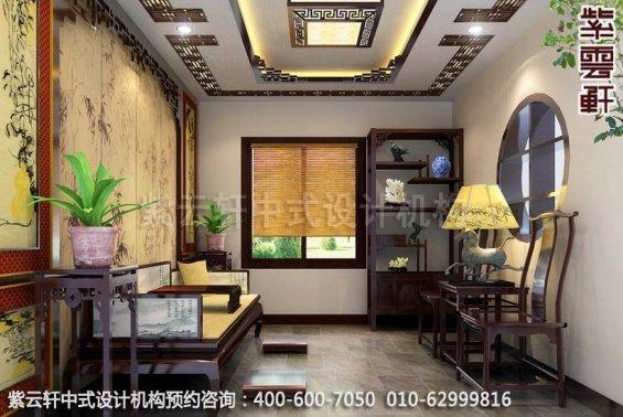 茶室中式装修效果图-典雅气质中式魅力-精品住宅古典书房中式装修
