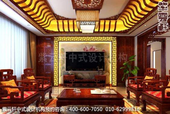 客厅中式装修效果图-典雅气质中式魅力-精品住宅古典书房中式装修