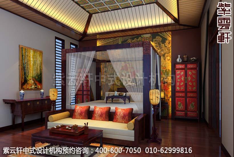 主臥室中式裝修效果圖-典雅氣質中式魅力-精品住宅古典書房中式裝