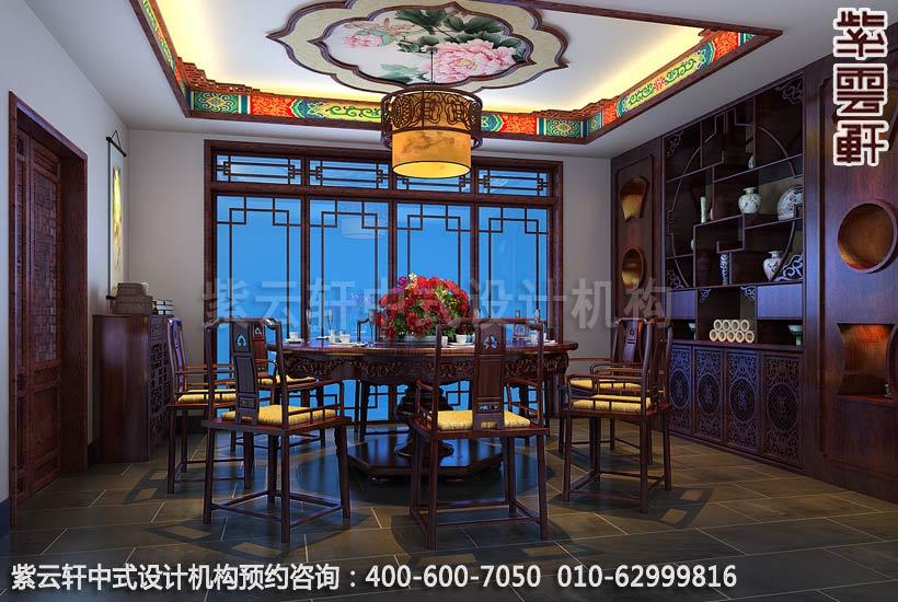 餐厅中式装修效果图,传统与时尚的结合-住宅新中式装修效果图