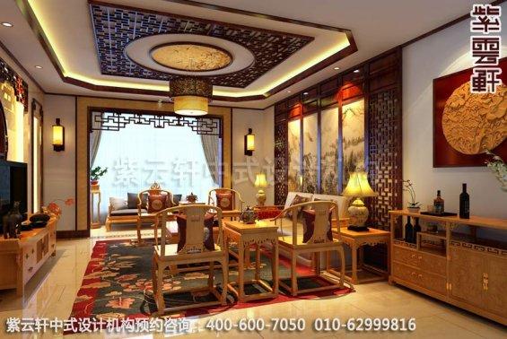 客厅中式装修效果图,传统与时尚的结合-住宅新中式装修效果图