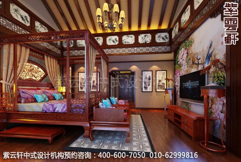 主卧室中式装修效果图,传统与时尚的结合-住宅新中式装修效果图图片