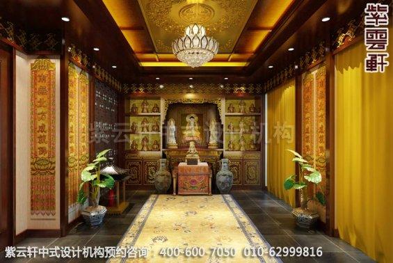 佛堂中式装修效果图,静化艺术氛围―古典中式家居设计装修
