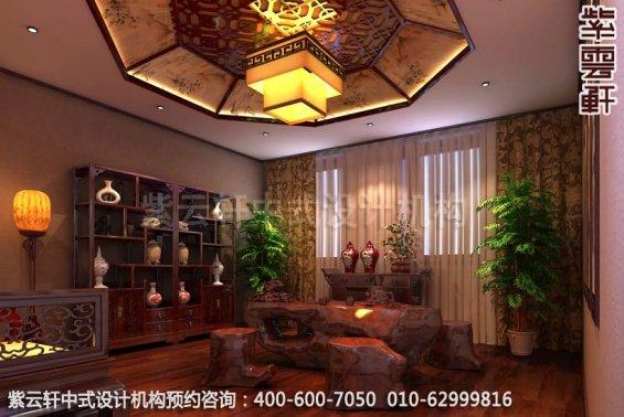 茶室中式装修效果图-东方美韵显中式文化-新中式家庭装修效果图