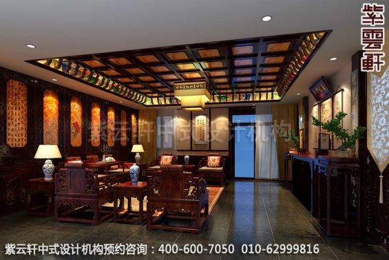 客厅中式装修效果图-东方美韵显中式文化-新中式家庭