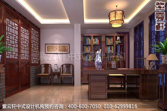 书房中式装修效果图-东方美韵显中式文化-新中式家庭装修效果图