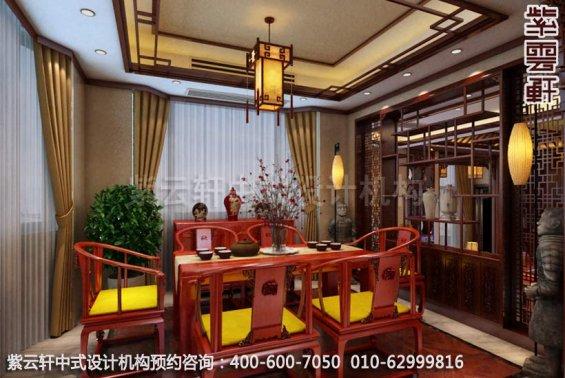 茶室中式装修效果图-古韵悠长秀美-家装中式装修效果图