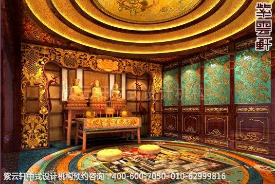 佛堂中式装修效果图-古韵悠长秀美-家装中式装修效果图