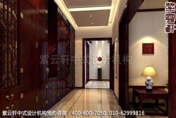 门厅中式装修效果图-廊坊现代中式风格别墅装修效果图