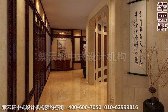 二楼过厅中式装修效果图-廊坊现代中式风格别墅装修效果图
