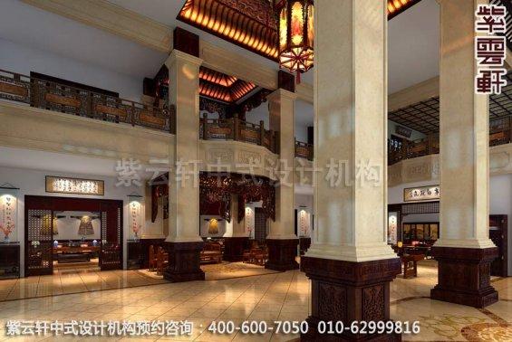 大厅中式装修效果图-公装设计宝德风红木馆,店面展厅中式装修效果