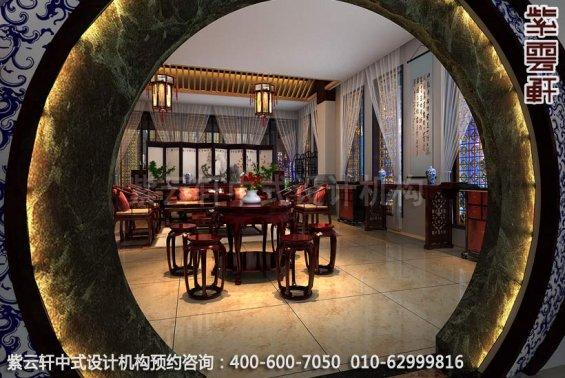 展区1中式装修效果图-公装设计,宝德风红木馆展厅中式装修效果图