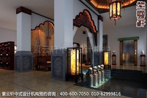 过厅中式装修效果图-公装设计,宝德风红木馆展厅中式装修效果图